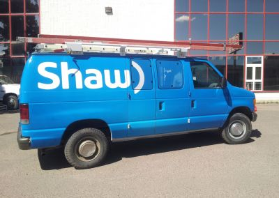 Vehicle Decals: Shaw Communications