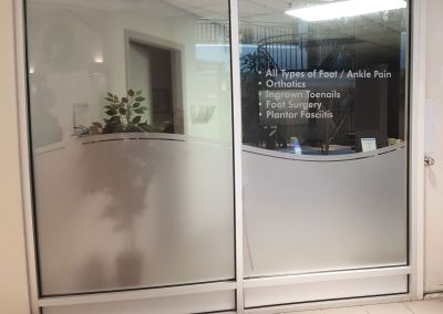 Etched Glass Vinyl: Foot Clinic