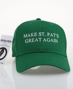 Make St. Pat's Great Again Hat Front View