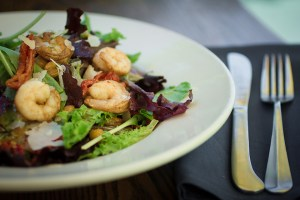 Iron Rabbit prawn salad