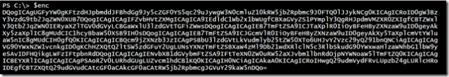 A PowerShell scriptblock encoded as base64