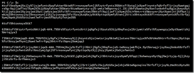 A PowerShell Encoded Message
