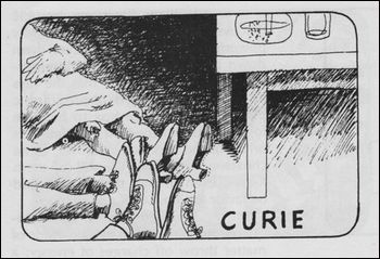 As soon as Madame Curie turned on the x-ray machine, they all dropped dead.
