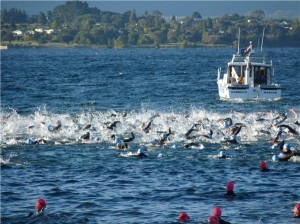 Ironman swim start
