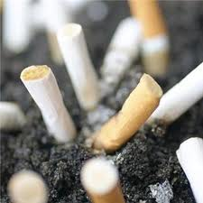 giving up smoking  -cigarette butts