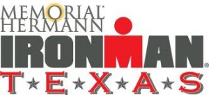Red and grey Ironman Texas 70.3 banner