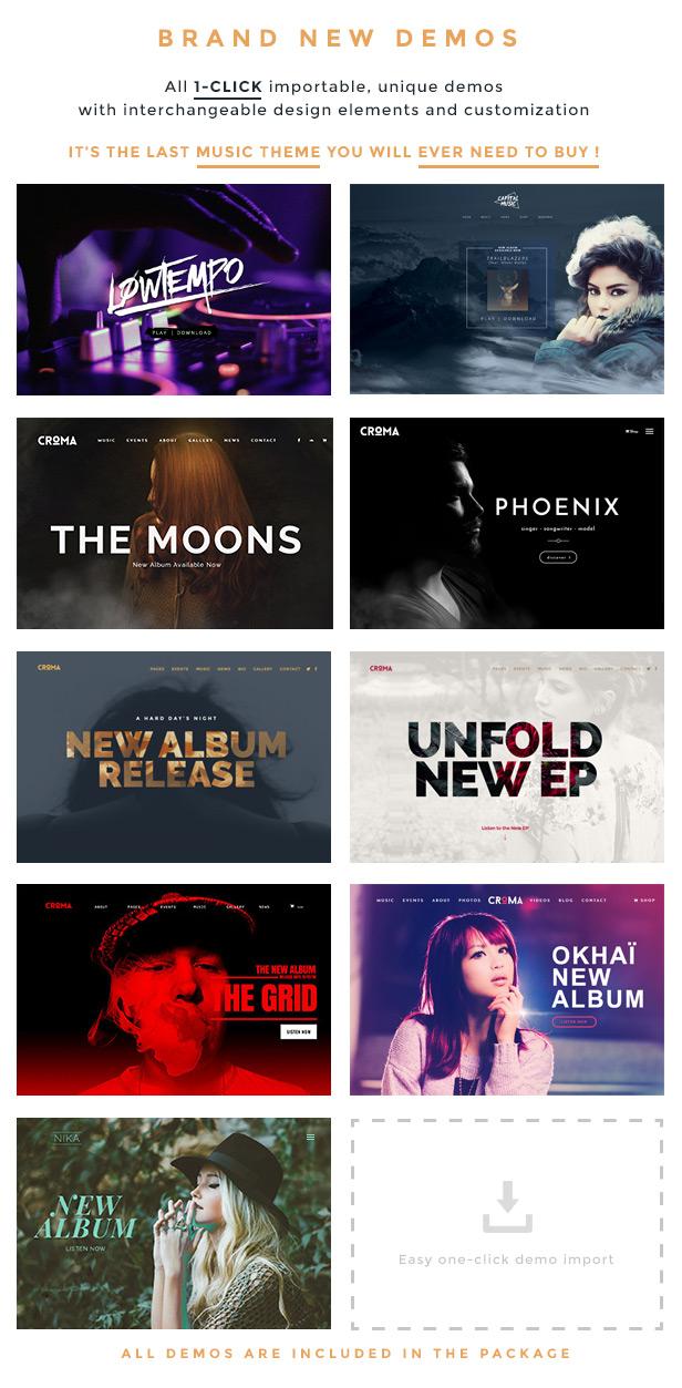 Croma - Responsive Music WordPress Theme