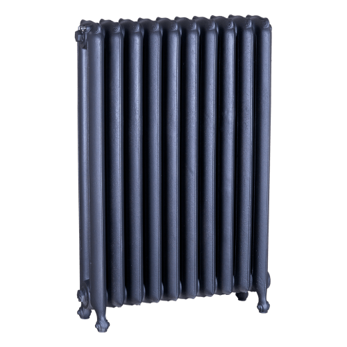 Ironworks Radiators Inc. refurbished cast iron radiator Forestview in Steel Grey