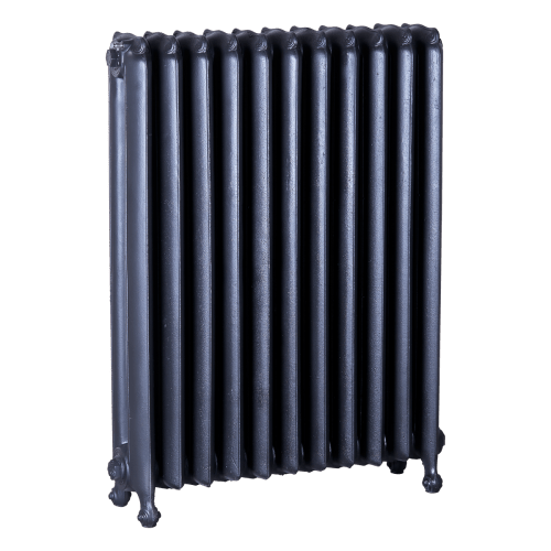 Ironworks Radiators Inc. refurbished cast iron radiator Madison in Black