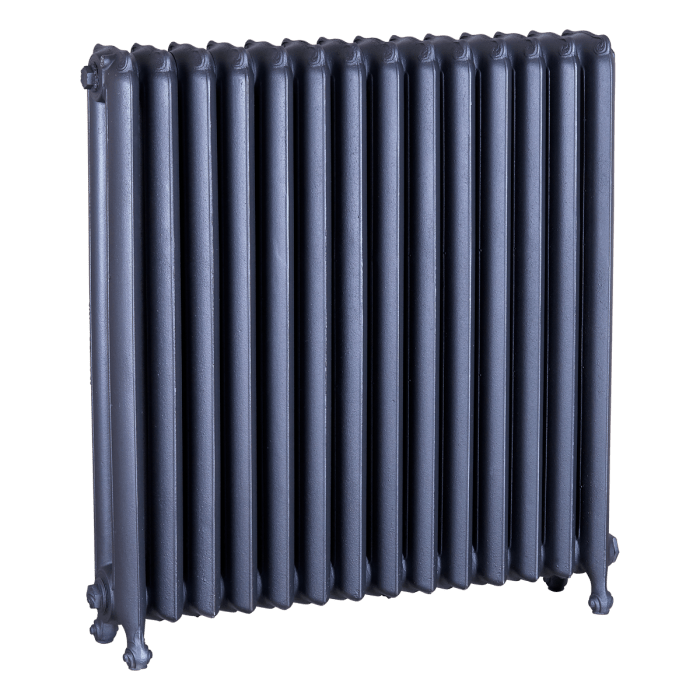 Ironworks Radiators Inc. refurbished cast iron radiator Stanley in Steel Grey