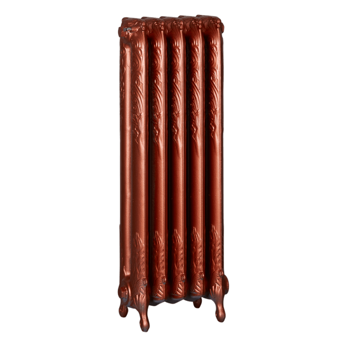 Ironworks Radiators Inc. refurbished cast iron radiator Batawa in Copper Metallic