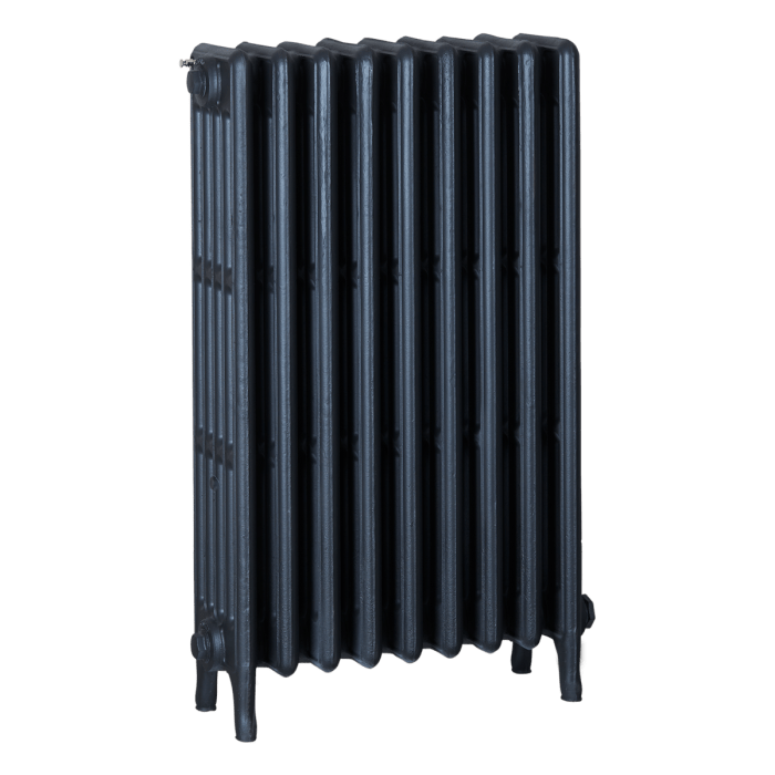 Ironworks Radiators Inc. refurbished cast iron radiator Starfire in Matte Black
