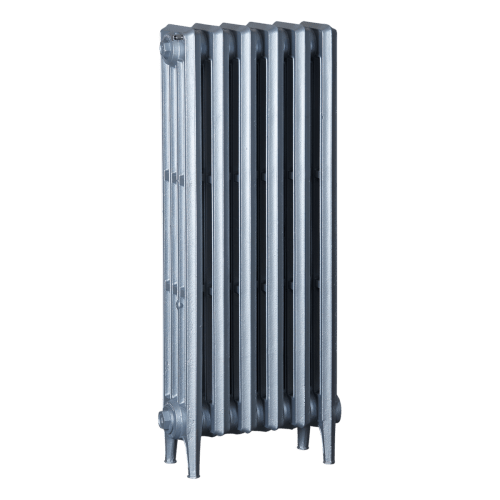 Ironworks Radiators Inc. refurbished cast iron radiator Stonebridge in Platinum Metallic