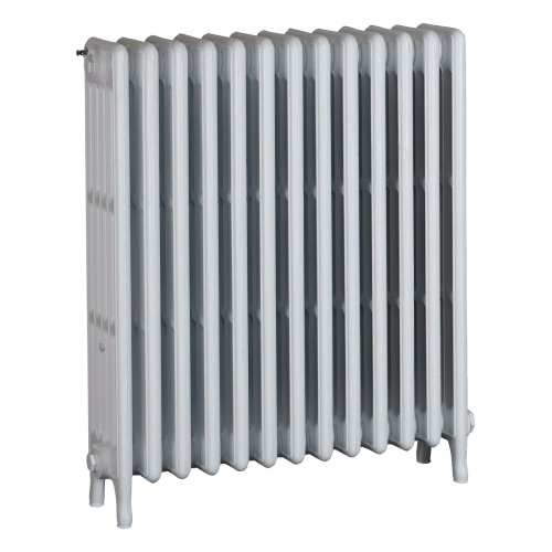 Ironworks Radiators Inc. refurbished cast iron radiator Shaftesbury in Semi-gloss white