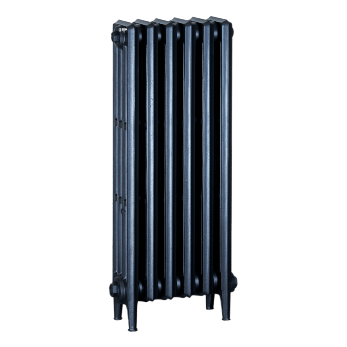 Ironworks Radiators Inc. refurbished cast iron radiator Estelle in Matte Black