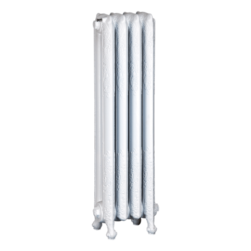 Ironworks Radiators Inc. refurbished cast iron radiator Lamberton in Semi Gloss White