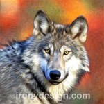 Grey Wolf Photo Art Painting