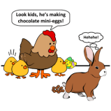 Funny Easter Hen and Bunny Rabbit Poop Products