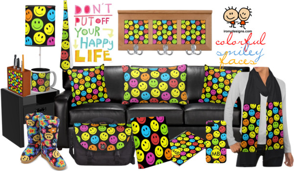 Happy Colorful Smiley Faces Pattern