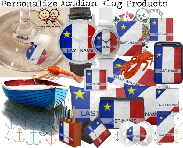 Flag of Acadia Personalized