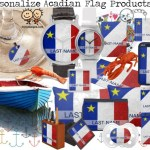 Acadian Flag With Your Last Name Products
