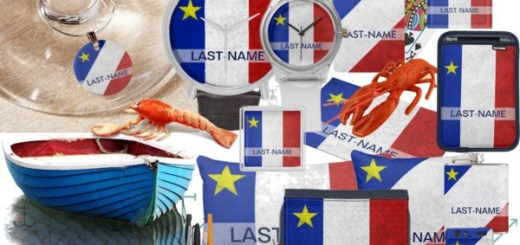 Acadian Flag Personalized Gifts