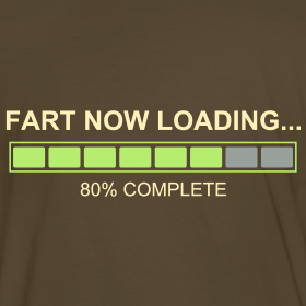Computer image showing your fart is almost ready to come out.