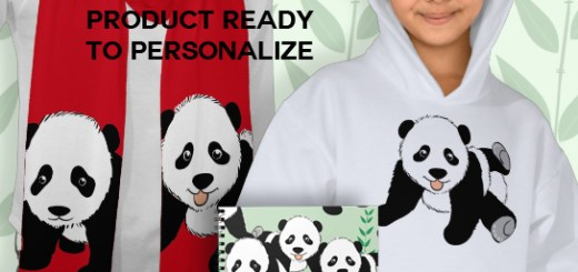 Panda Bears Gift Products and Apparel