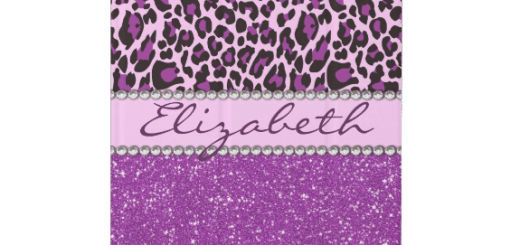 Personalized Purple Leopard Print