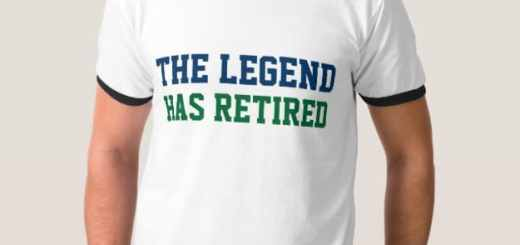 Retired Gift Ideas. The Legend has Retired T-Shirt