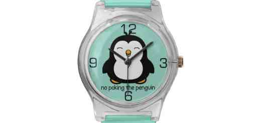 No Poking the Penguin Novelty Wrist Watches