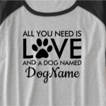 Dog and Cat Saying with Pawprints Shirts