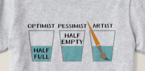 Glass Half Full Funny Meme T-Shirt