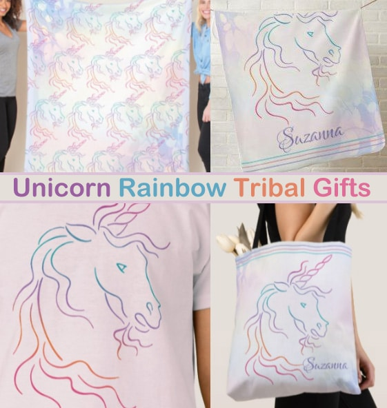 Unicorn Rainbow Tribal Gifts
