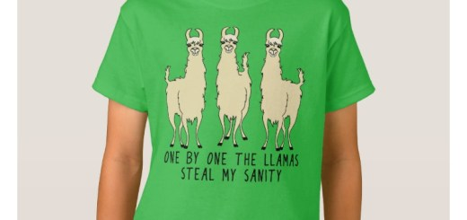 One by One the Llamas Steal My Sanity T-Shirts and Product Gifts.