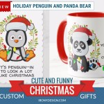 Cute and Funny Christmas Animal Gifts| Penguin and Panda Holiday Products
