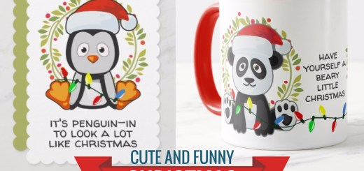 Cute and Funny Christmas Animals – Holiday Penguins and Pandas Gift Products