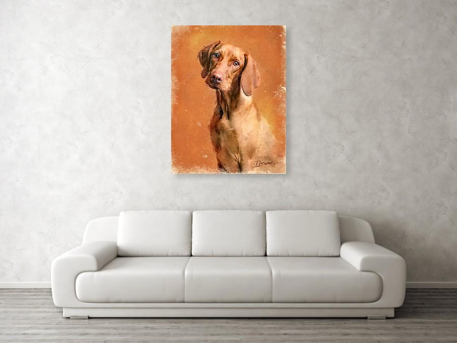 Vizsla Dog Portrait | Painting on Various Products