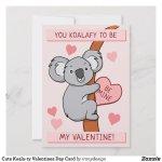 Koala Valentines Day Cards | Custom Text