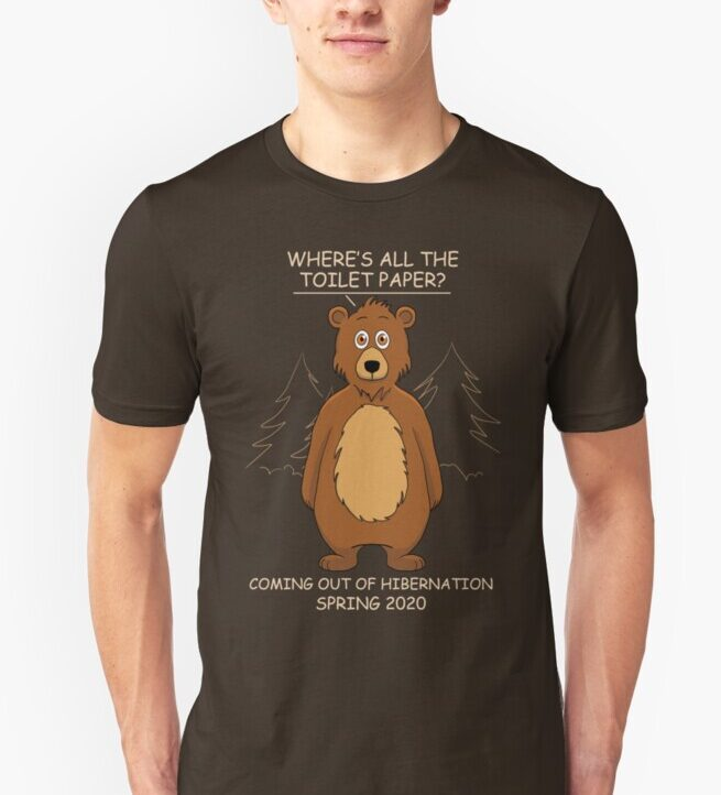 Out of Hibernation Bear Dark T-Shirt