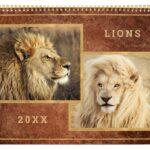 Beautiful Lions Calendar