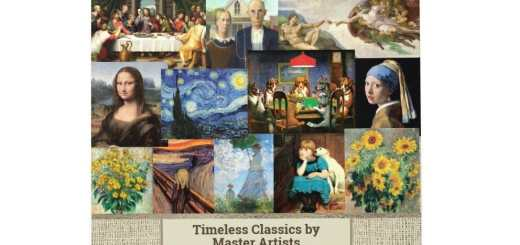 Famous Art Masterpieces of all Time Wall Calendar