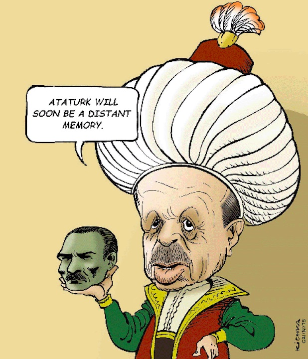 Image result for cartoons erdogan