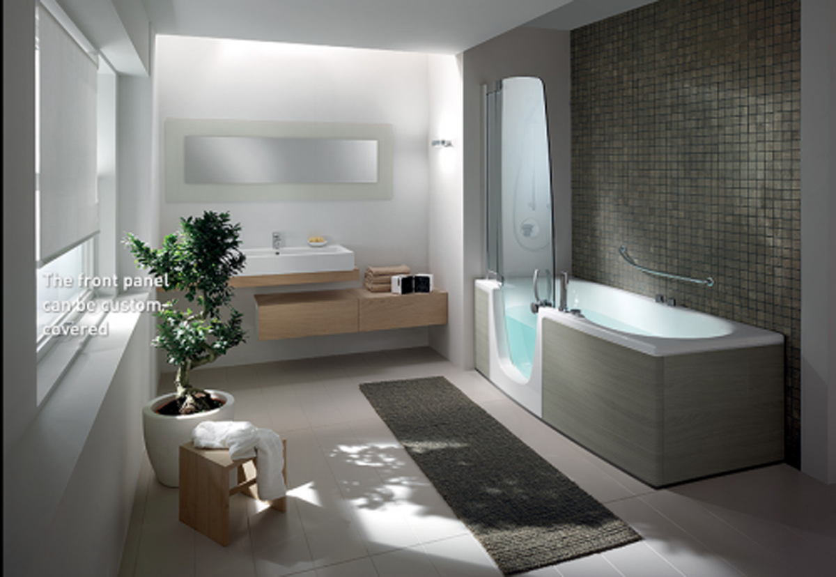 modern bathroom interior landscape