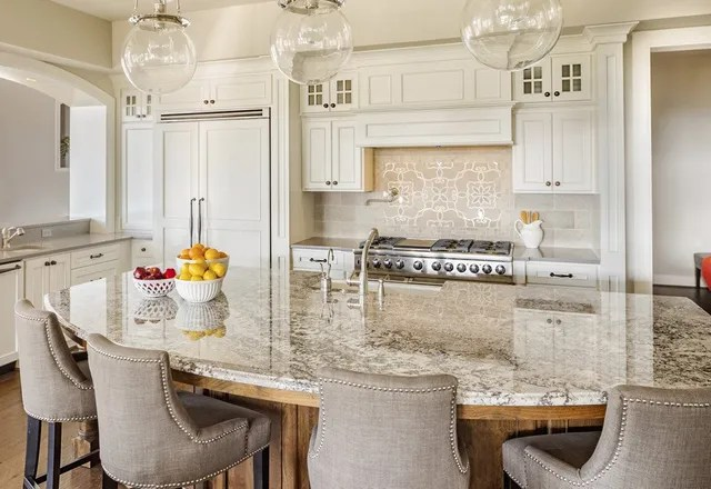 granite kitchen white laminate cabinets stone countertops in buffalo and amherst ny