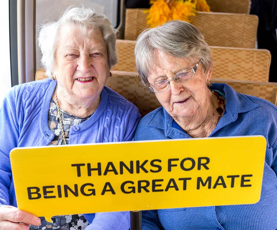 Senior women who are great mates