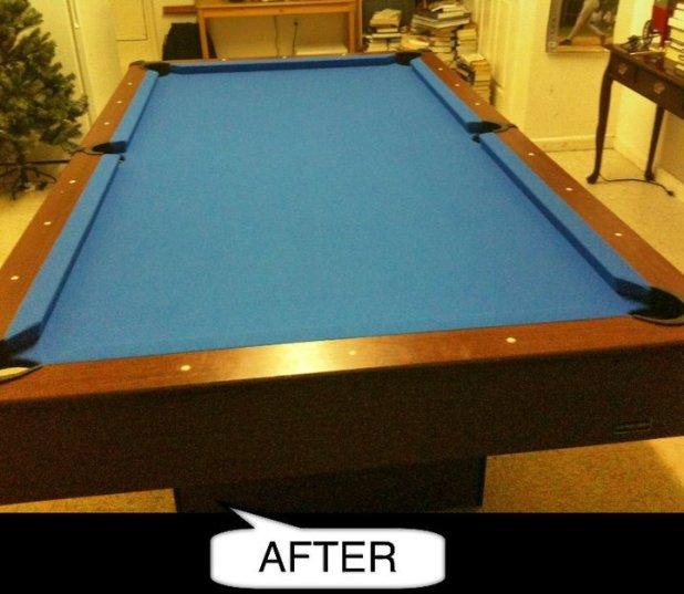 how to refelt a slate pool table | Brokeasshome.com