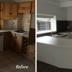 Kitchen Facelift Modern White Gloss Cabinets Remodelling Tauranga Kitchens Before And After Of In The Bay Plenty