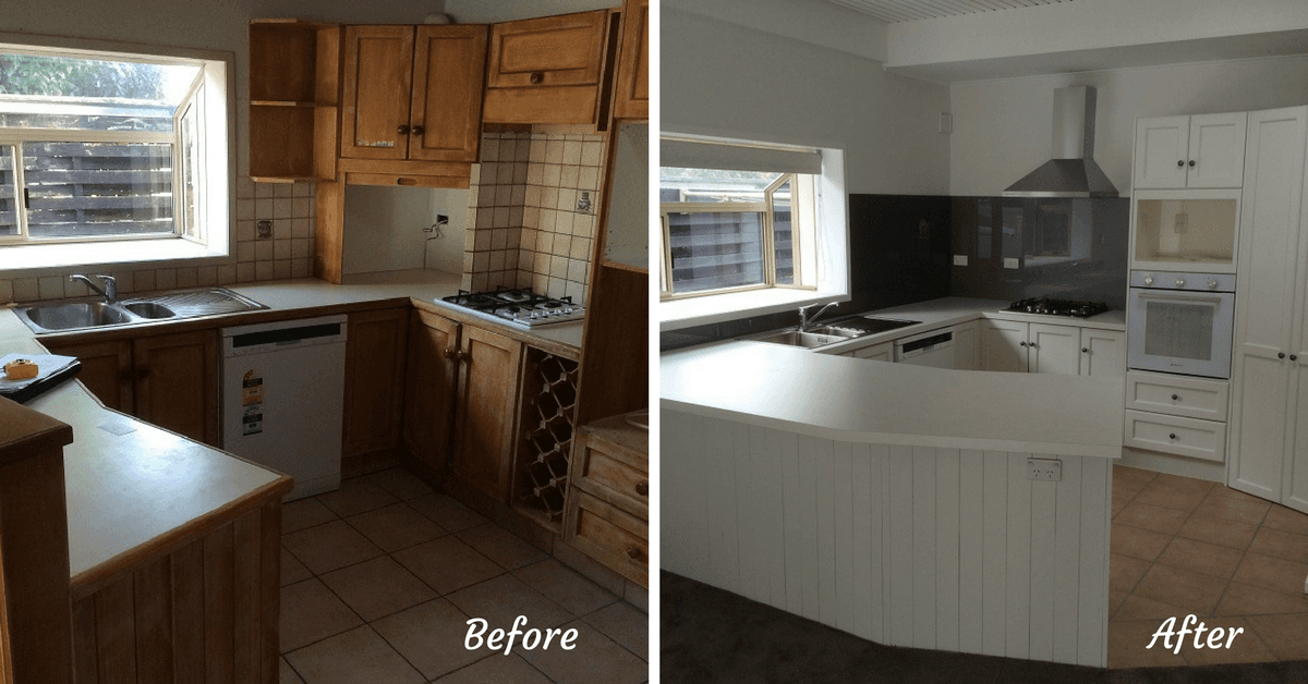 kitchen facelift hansgrohe talis c faucet remodelling tauranga kitchens before and after of in the bay plenty