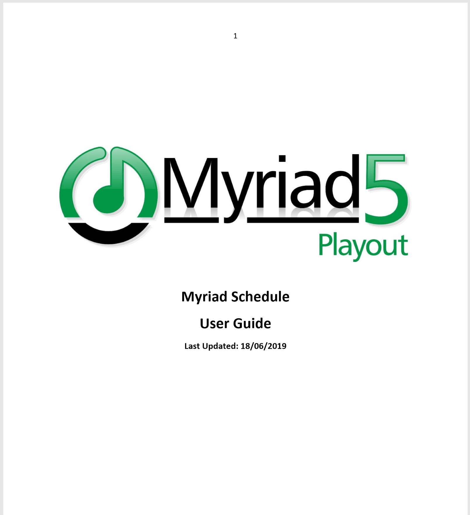 Myriad 5 Playout Support
